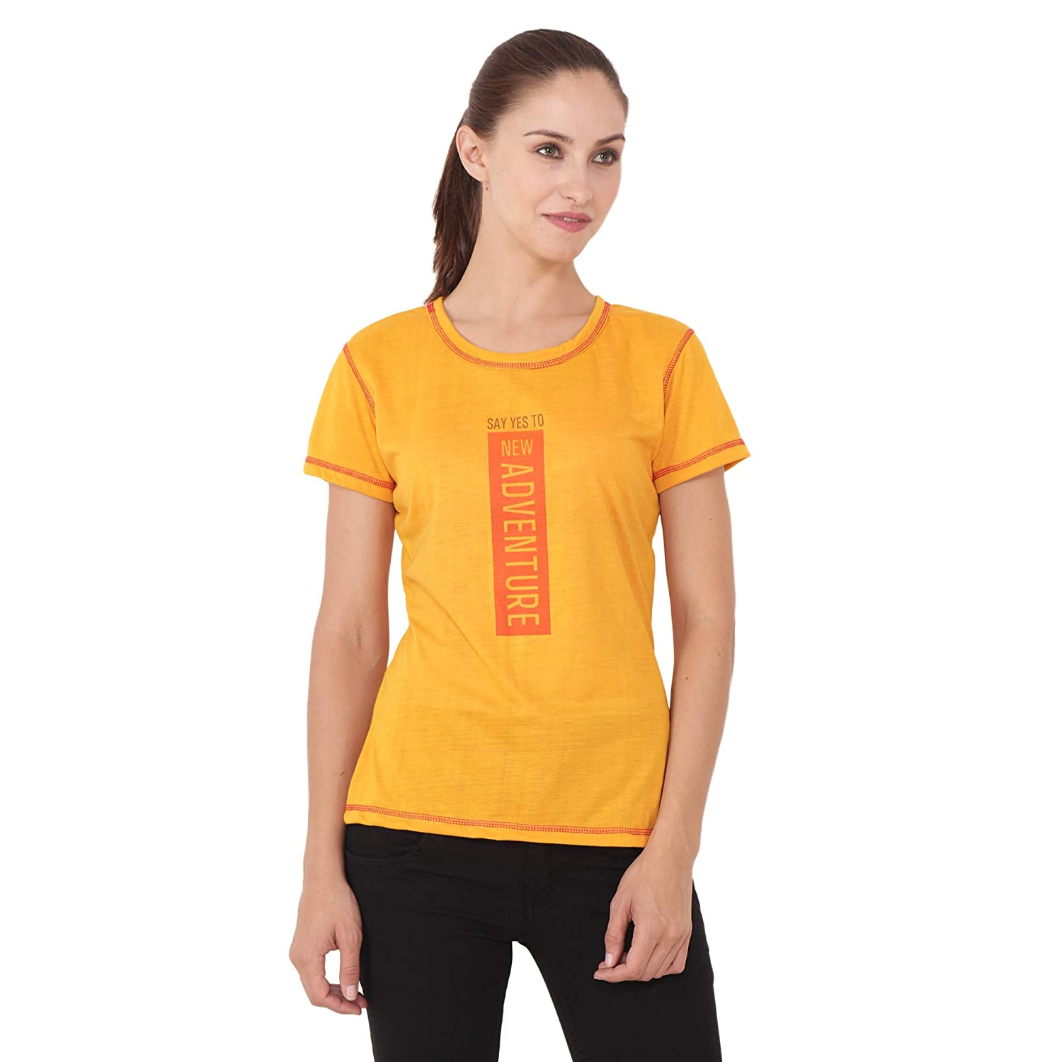 ac3da961 Chauhan Yellow Color, Half Sleeve, Printed Trendy T-Shirt: Amazon.in:  Clothing & Accessories