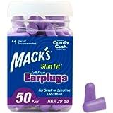 Mack's Slim Fit Soft Foam Earplugs, 50 Pair - Small Ear Plugs for Sleeping, Snoring, Traveling, Concerts, Shooting…