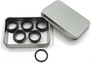 Shapenty 1 Inch/25mm Diameter Metal Flat Split Key Chains Rings for Home Car Keys Attachment (Black,20PCS/Box)