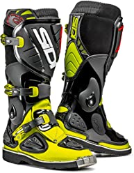 Sidi Stinger Youth Kids MX Boots (Black/Yellow, 1.5/33)