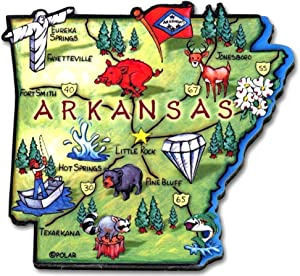 Arkansas the Diamond State Artwood Jumbo Fridge Magnet