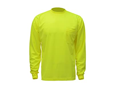 58e7d93016cd Image Unavailable. Image not available for. Color: CJ Safety CJHVTS0002 High  Vis Long Sleeve Safety Shirt ...