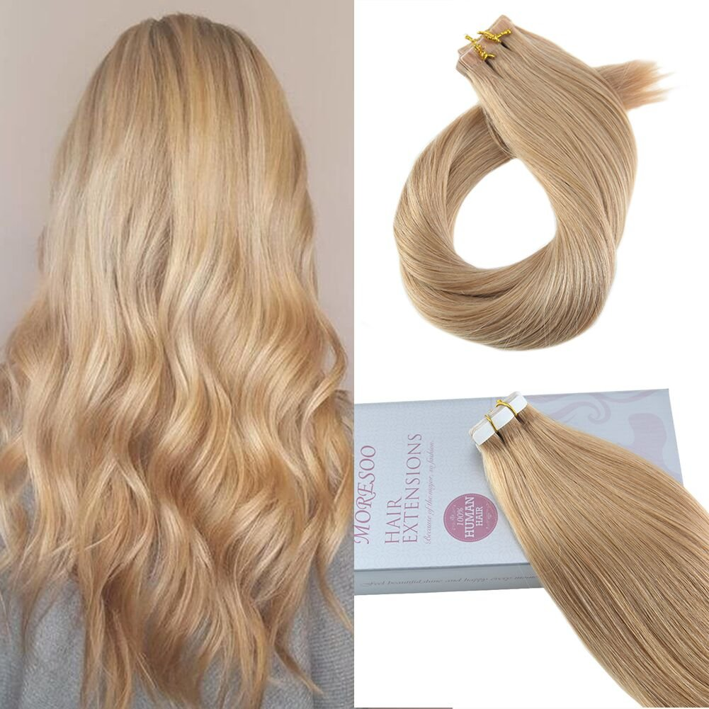 Amazon Moresoo 14 Inch Tape On Human Hair Extensions Balayage