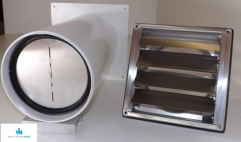 VALVOLA riflusso per muro ventilatore Ø 100 120 125 150 mm ZZ