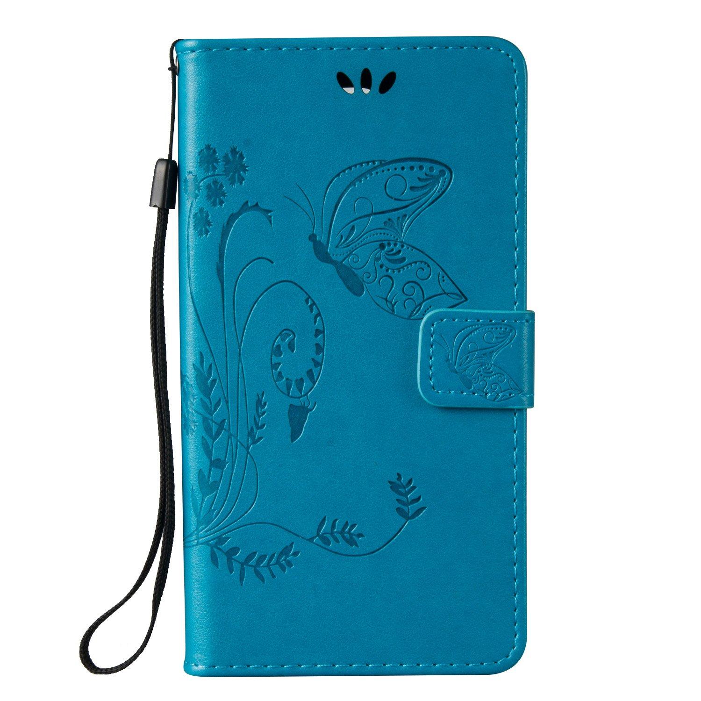 Samsung Galaxy Note 3 Hü lle, Samsung Galaxy Note 3 Case,Cozy Hut Schmetterling Muster Kunstleder Ledertasche Schutzhü lle Case Tasche,Bunte Drucken Muster PU Leder Brieftasche Hü lle Wallet Case Flip Cover Hü llen Etui Lederhü lle