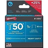 Arrow Fastener Company Inc 506 2 Pack 3/8 in. T50 Genuine Arrow 2,500pc Staple