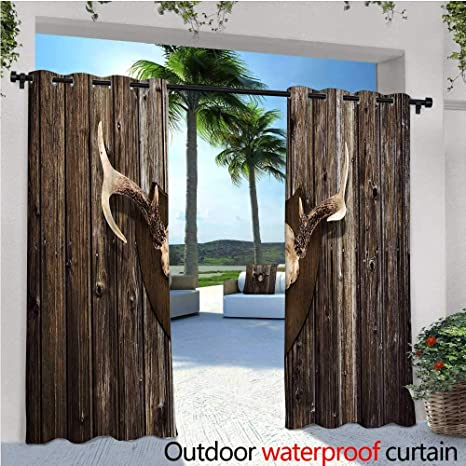 Magnificent Amazon Com Antler Decor Patio Curtains Rustic Home Cottage Best Image Libraries Barepthycampuscom