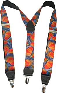 product image for Hold-Ups Collage of Colors Pattern Suspenders Y-back style and No-slip Nickel Clips
