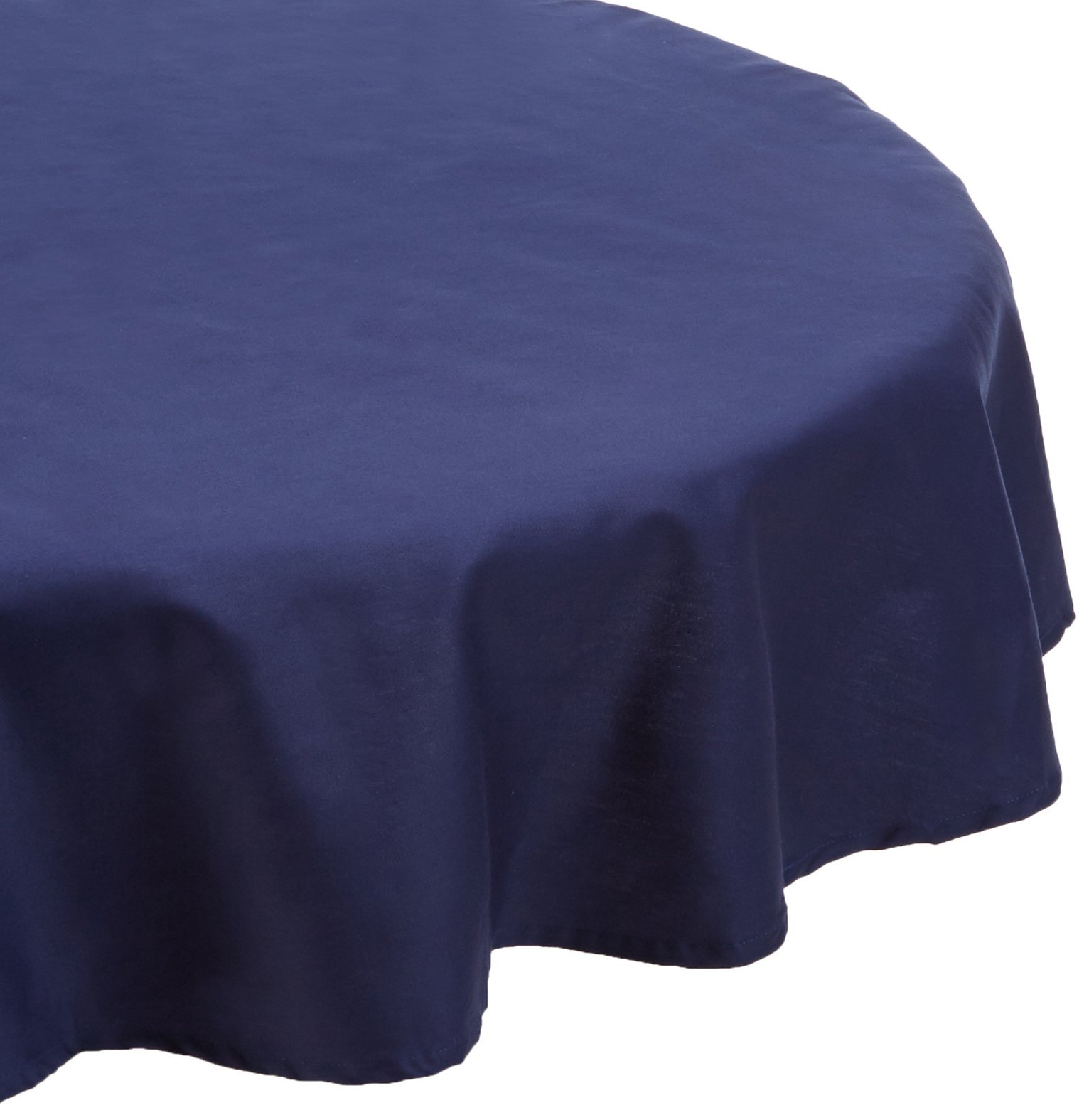 KAF Home Buffet Tablecloth in Navy, 70'' Round, 100% Cotton, Machine Washable by KAF Home