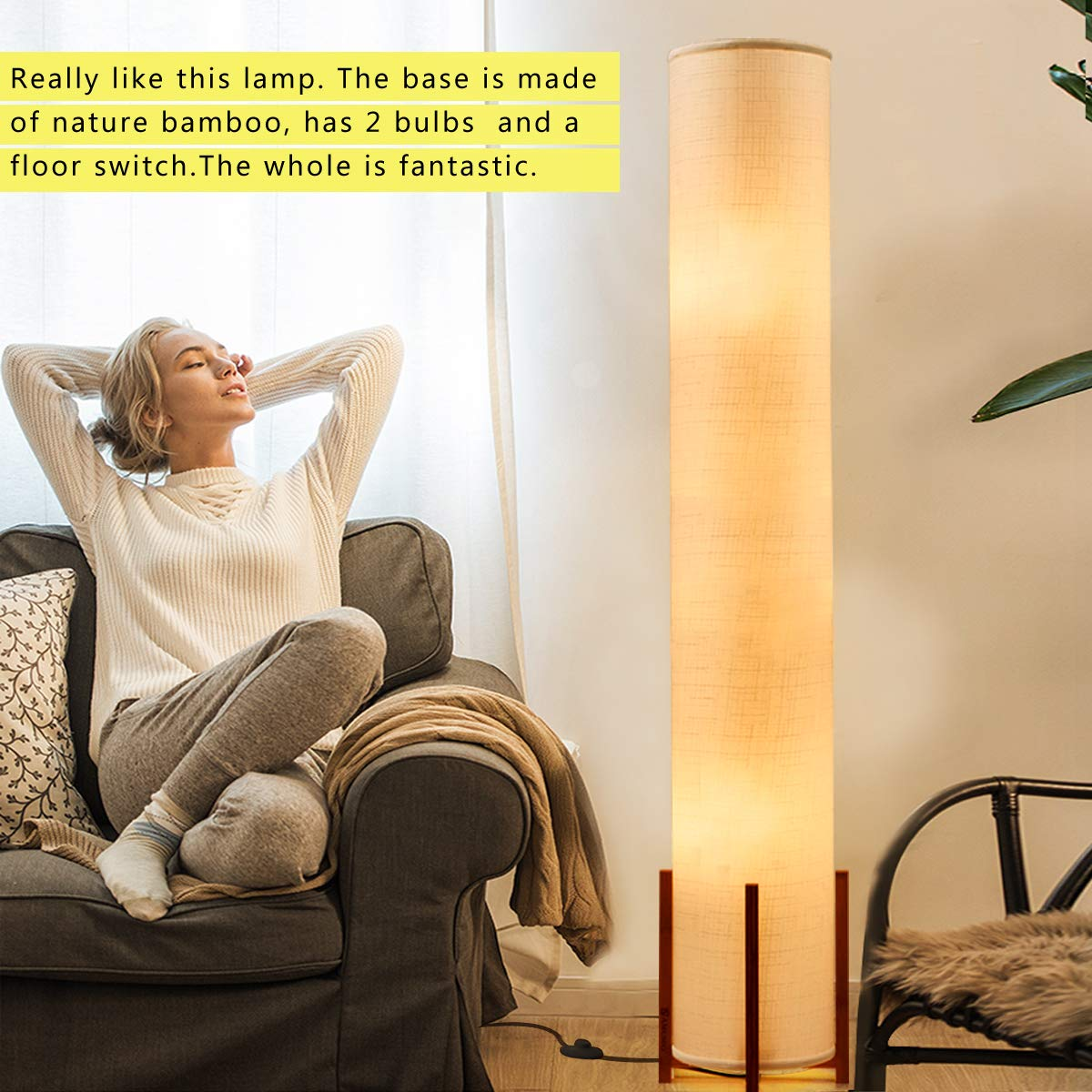 AMUMO LED Floor Lamp 52\