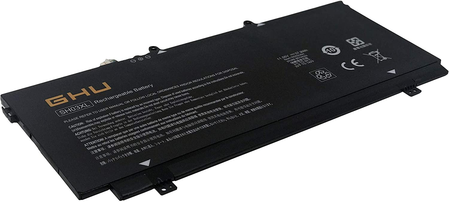 New GHU SH03XL Laptop Battery Compatible with HP Spectre X360 13-AC033DX Series 13-AB001 13-AB099 13T-AB000 HSTNN-LB7L (11.55V 57.9Wh)