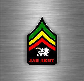 Akachafactory Selbstklebend Sticker Auto Rasta Reggae One Love Löwe Jamaikanische Flagge Ref18 Auto
