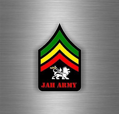 Adhesivo decorativo para coche, diseño de one love rasta reggae ref18 león bandera de Jamaica: Amazon.es: Juguetes y juegos