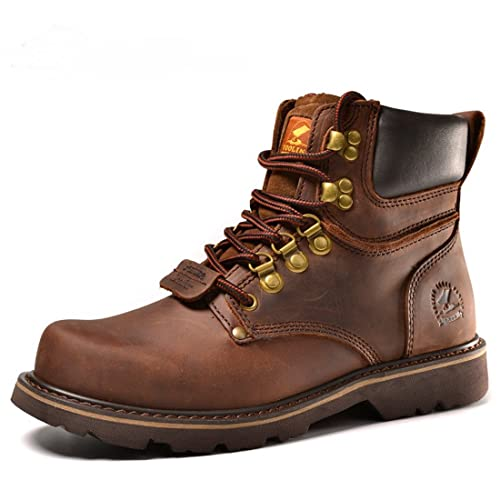 Mens Cowskin Martin Ankle Booties Lace Up Combat Boots 3572
