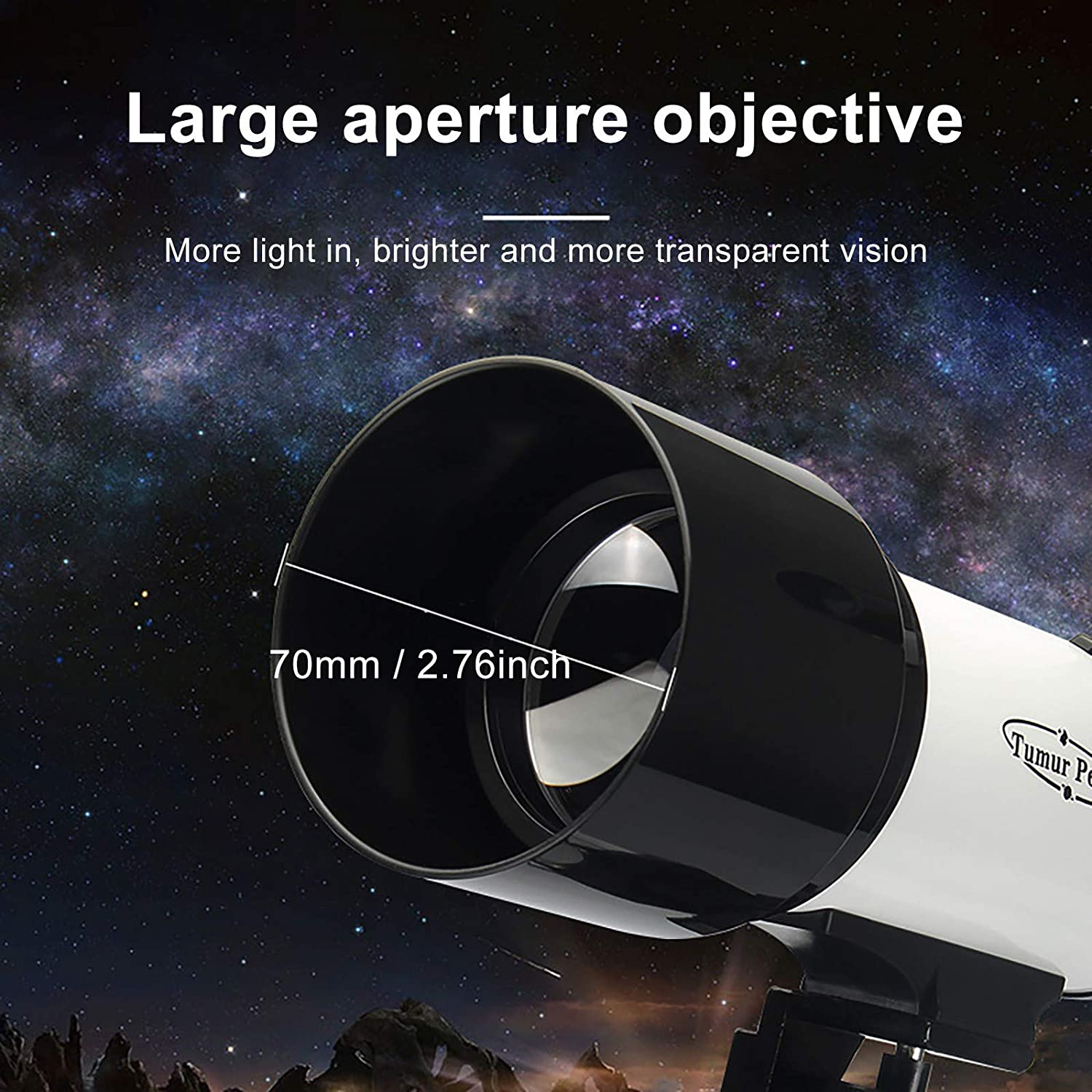 70mm Aperture 400mm Focal Professional Stargazing High Power HD Night Vision Astronomy Telescope With Finder Scope /& Tripod YJYdada Astronomical Telescope For Beginners Kids /& Adults