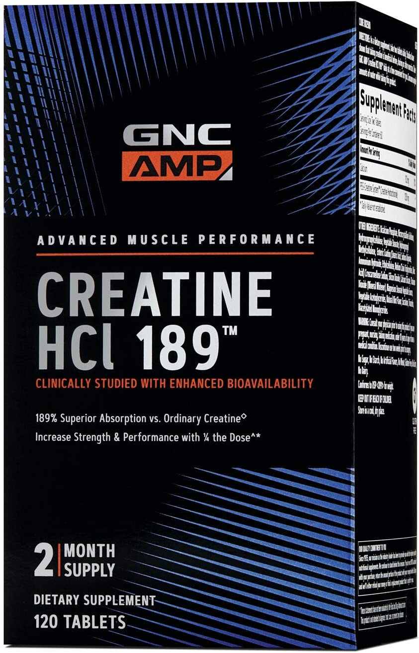 GNC AMP HCl 189, 120 Tablets