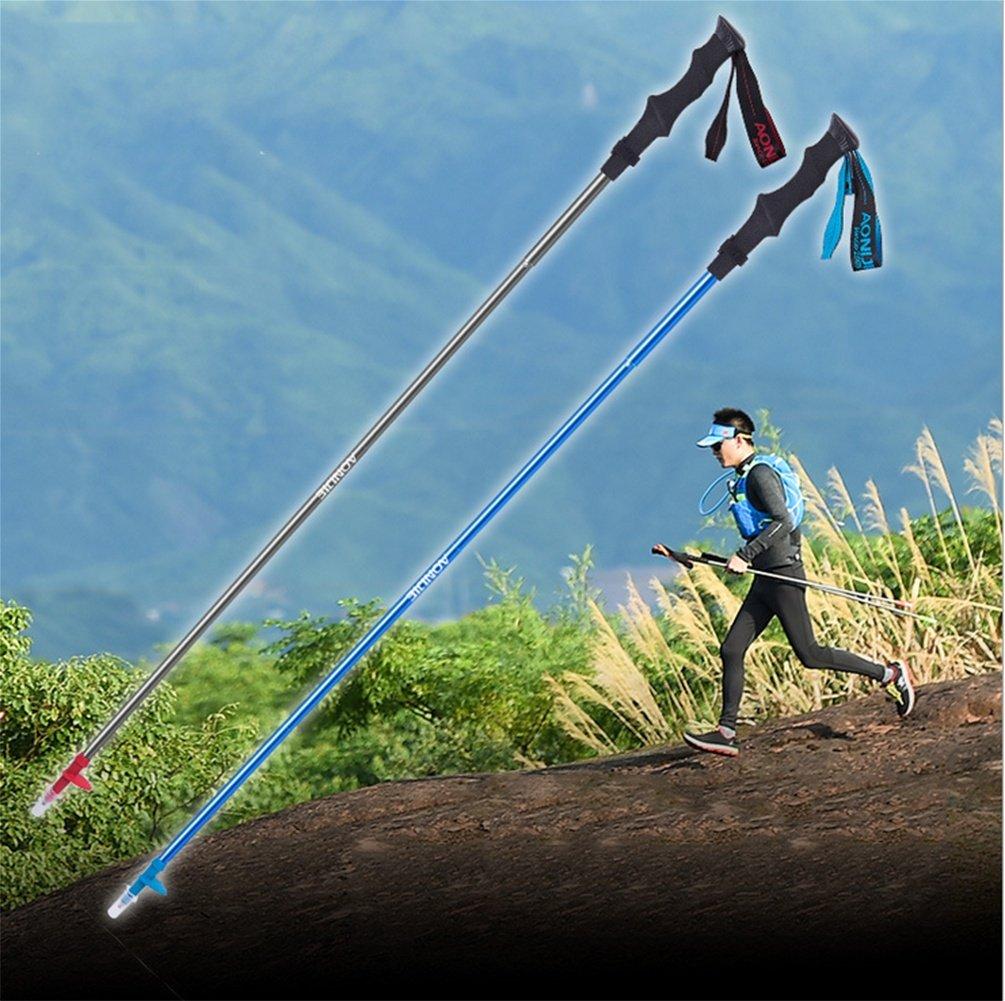 GXQL Wanderer zusammenklappbare Trekkingstöcke, Ultraleichte Wanderstöcke, Verstellbarer Aluminium-Anti-Schock-Kletterstab für für für Outdoor-Reisen Wandern, Weiche Eva und strapazierfähige Stoffgurte B07FDC6YYW Wanderstcke Schnelle Lieferung 2fd2b6