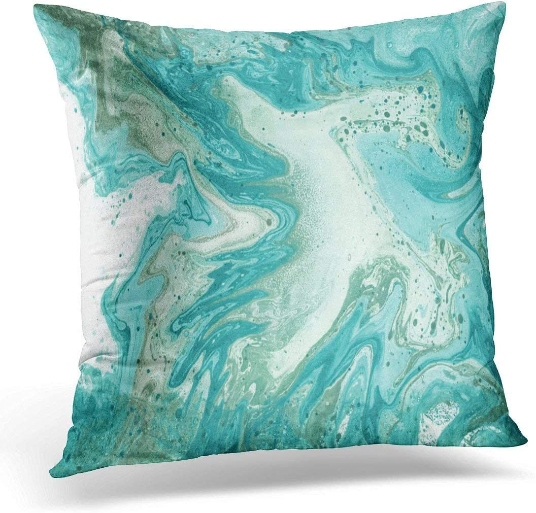 Abstract Pillow Covers Turquoise Blue