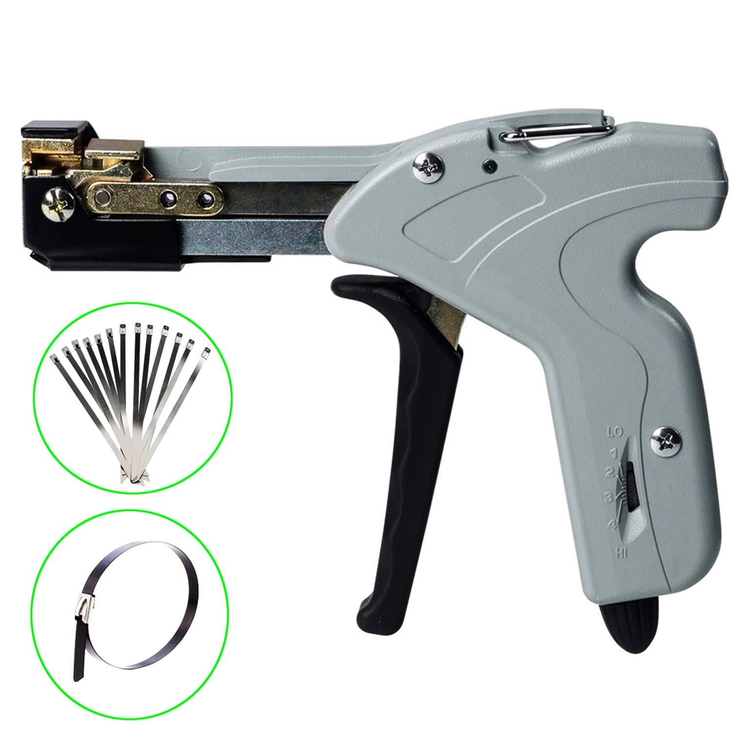 Knoweasy Stainless Steel Cable Tie Gun for Stainless Steel Cable Ties,Stainless Cable Tie Tool