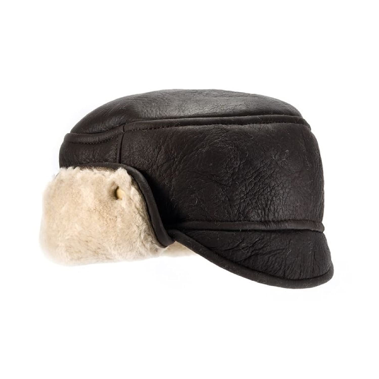 Eastern Counties Leather Mens Caxton Sheepskin Aviator Trapper Hat