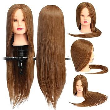 Bluelover Braun 18 Cm Lang Gerade Haare Training Modell