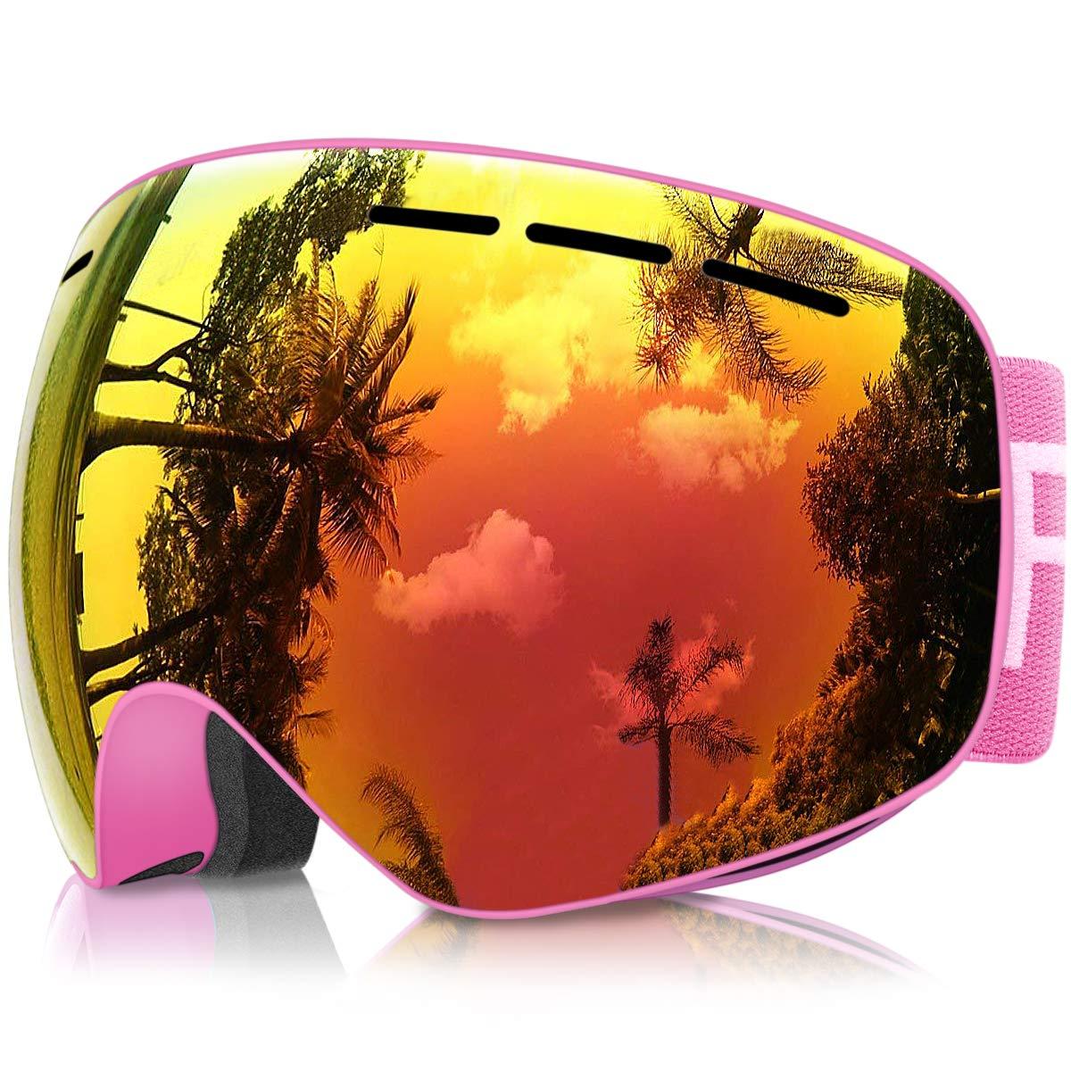 Gafas de Esquí Niños, eDriveTech Máscara Gafas Esqui Snowboard Nieve Espejo para Niño Niña Júnior Chicos Chicas 3 4 5 6 7 8 9 10 11 12 13 14 15 Años Anti Niebla Gafas de Esquiar OTG Protección UV product image