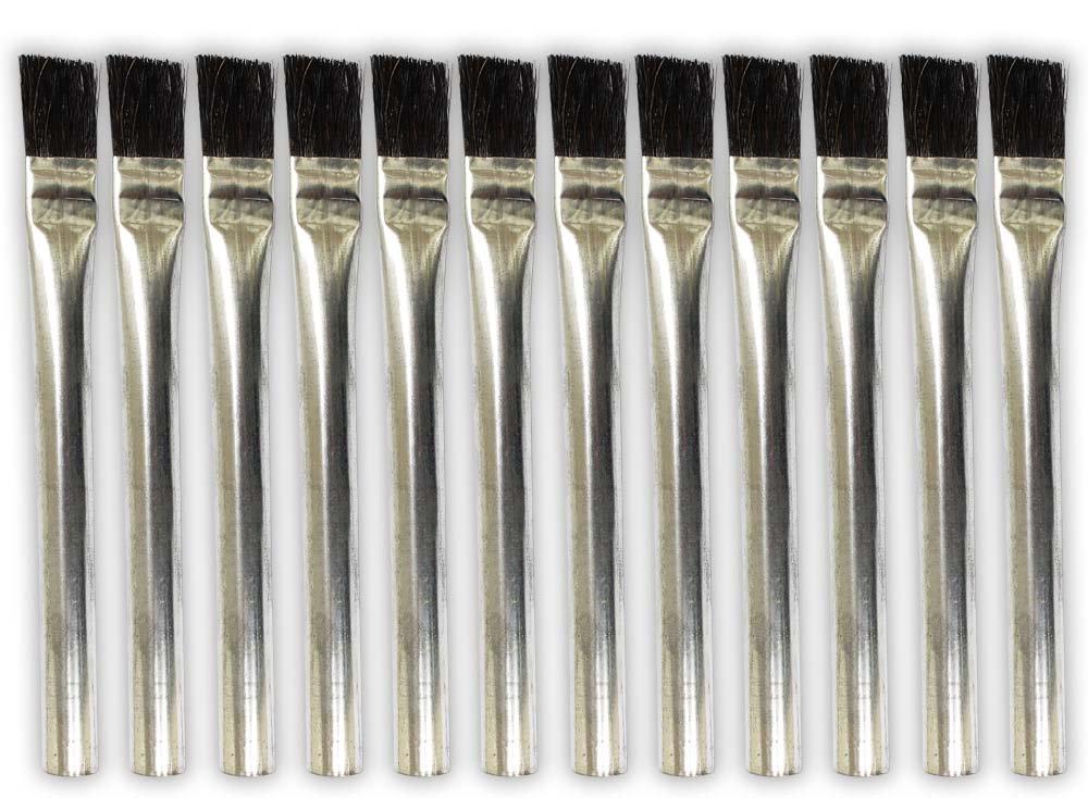 ToolUSA 12pc Acid Brush Set - 3/4' - Aluminium Handles: TZ63-06308