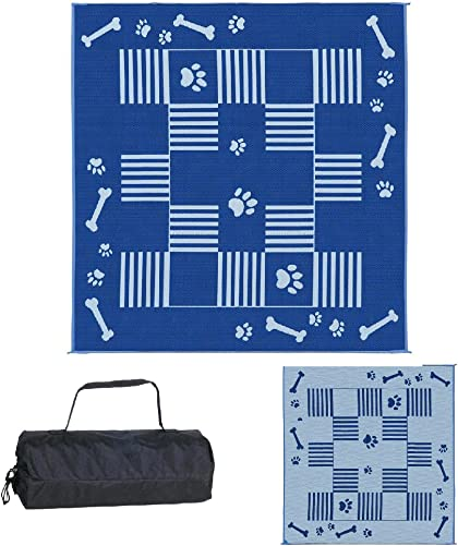 Ming s Mark DA3 Blue 9-Feet x 9-Feet Dog Paw Bone Mat