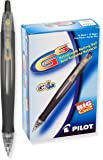 Pilot G6 Retractable Gel Ink Rolling Ball Pen, Fine Point, Black Ink, Dozen Box (31401)
