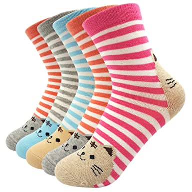 女性 靴下 コットン100% かわいい猫の靴下 動物キャラクター オシャレで足にフィット