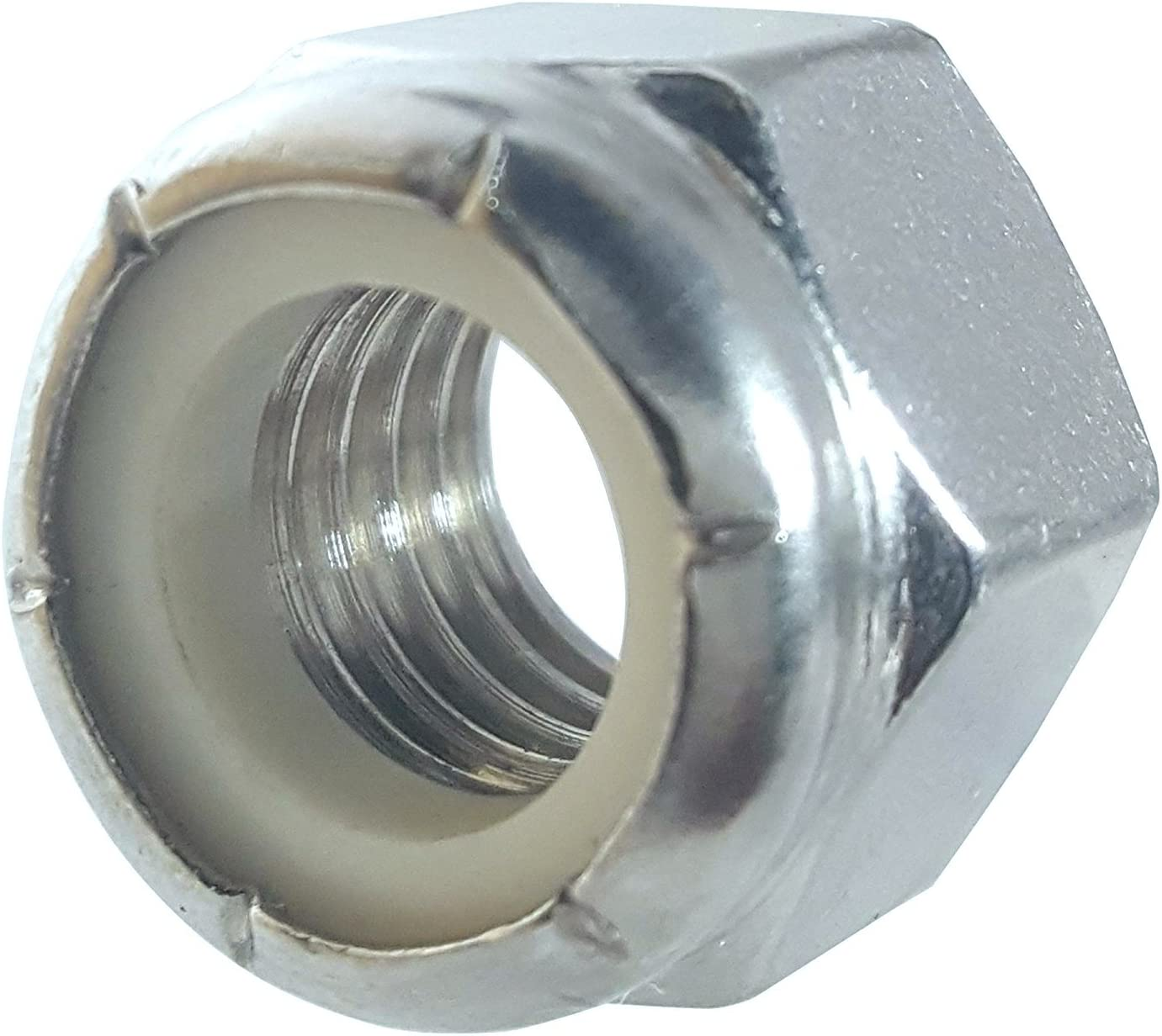 5//8-11 Nylon Locknut NE Steel Zinc 50 Pack