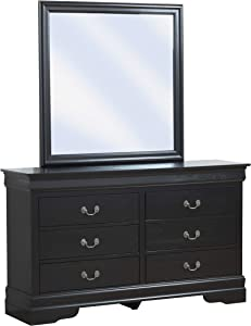 "Glory Furniture LouisPhillipe , Black Dresser, 33"" H X 57"" W X 16"" D"