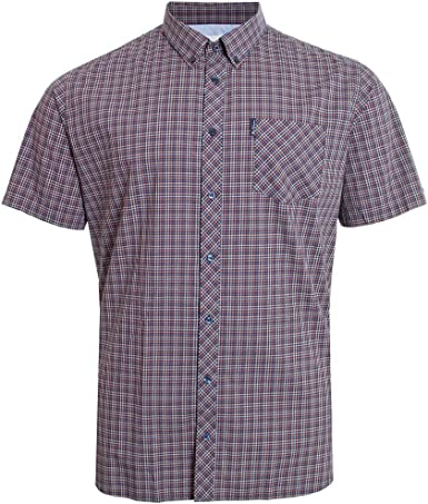 Ben Sherman Mini Gingham Check Shirt Button Down Collar Breast Pocket 100%: Amazon.es: Ropa y accesorios