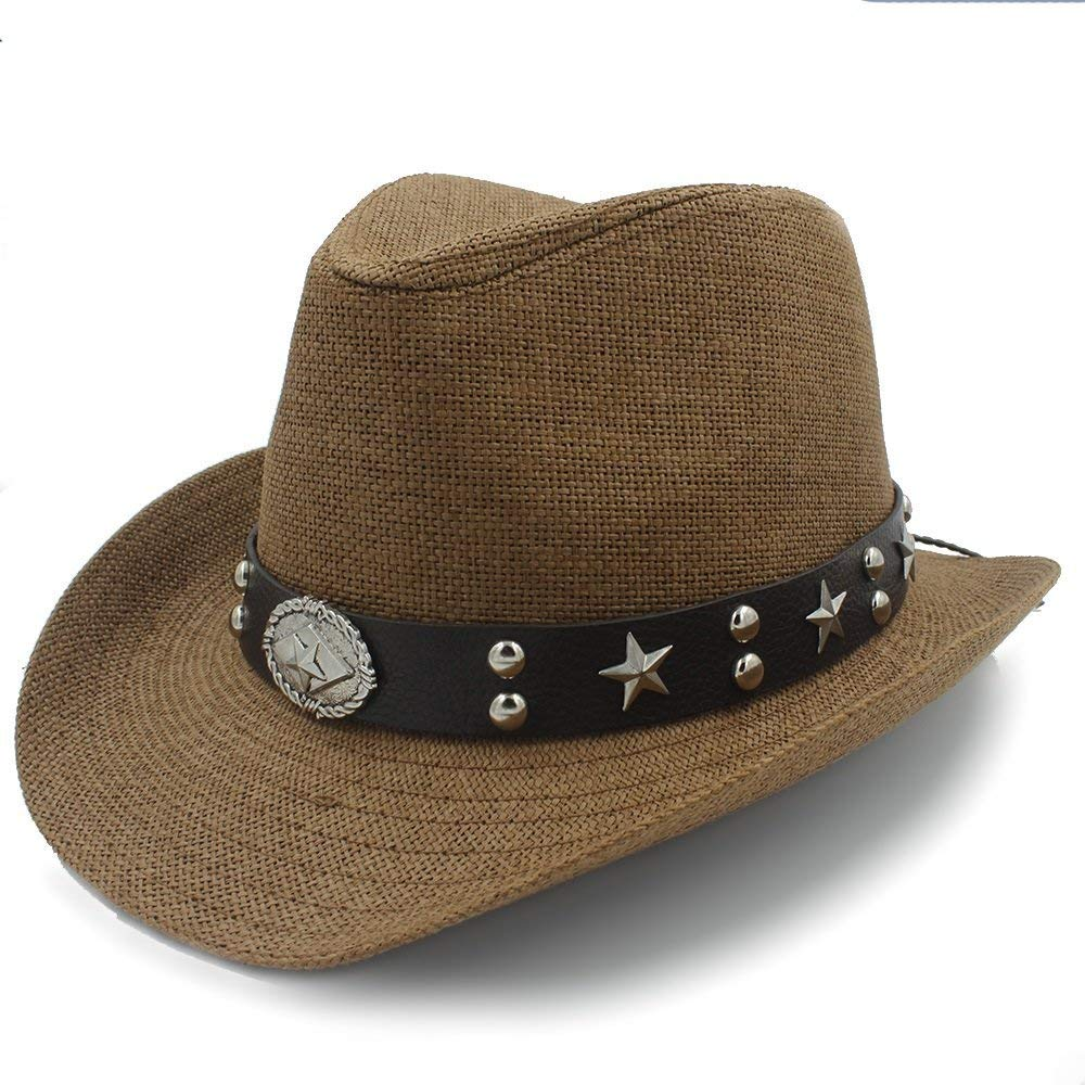 Fashion Warm Comfortable Hats for Women Women Men Straw Western Sombrero Cowboy Hats Dad Beach Sun Hat