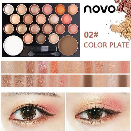 Novo 22 Colores Paletas de Sombras de Ojos Mate y Brillante ...