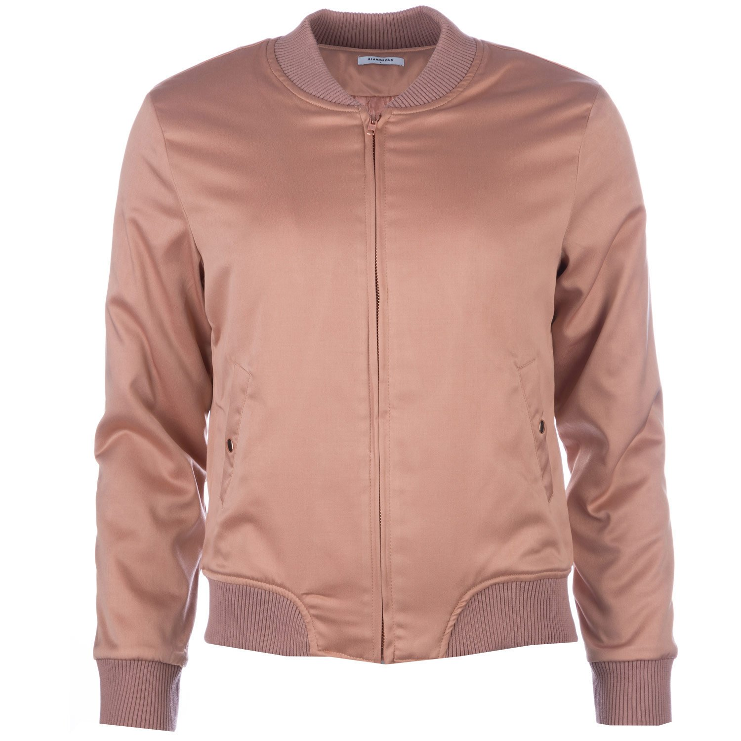7b8a88a2f Dusky Pink Glamorous Womens Bomber Jacket - Size : 8: Amazon.co.uk ...