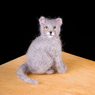 product image for WoolPets Kitty Wool Needle Felting Craft Kit Made in The USA.