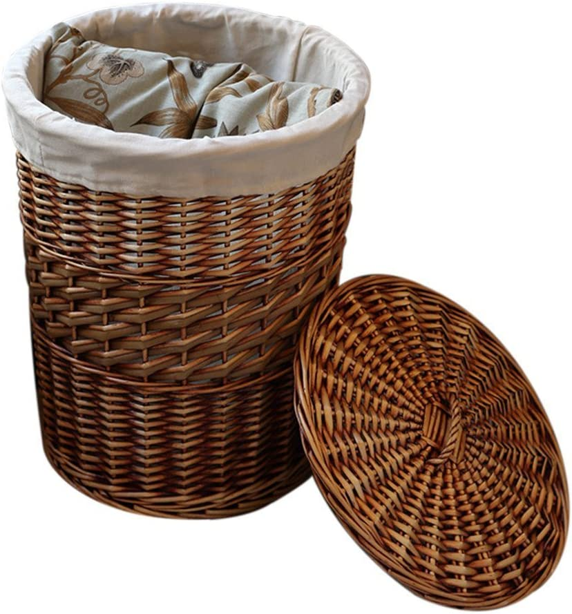 Wicker Basket for Flowers,Vanvler Blue Seagrass Pot Home Storage Basket Decoration Folding Basket Laundry Dirty Basket