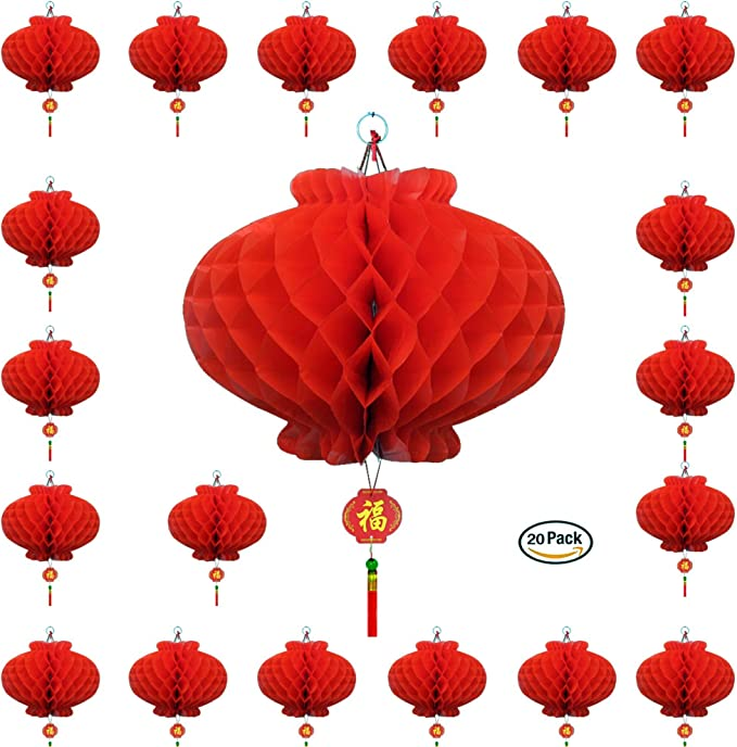 New Year Chinese Red Lantern String Chili Fish Pendant Spring Festival Decor