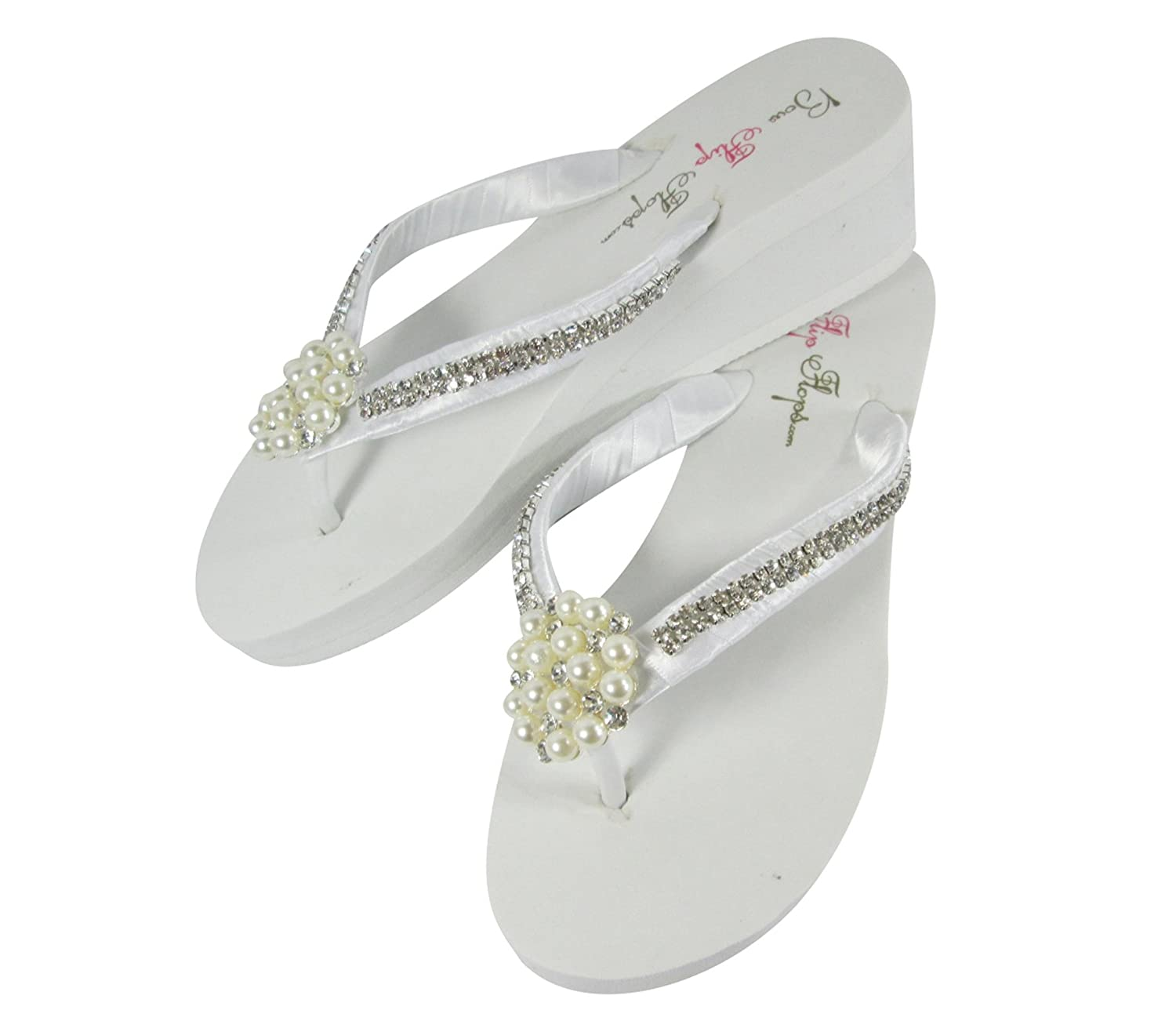 5f4517ab1f1a8 Amazon.com  Ultimate Bling Princess Crown Wedge Flip Flops