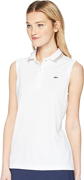 ae60be7b8 Amazon.com: Lacoste Women's Sport Sleeveless Ultra Dry Tennis Polo with  Mesh Back, Pf3424: Clothing