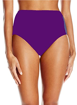 191e97ffed Image Unavailable. Image not available for. Color  Maxine Of Hollywood  Women s Plus Size High Waist Bikini Swimsuit Bottom ...