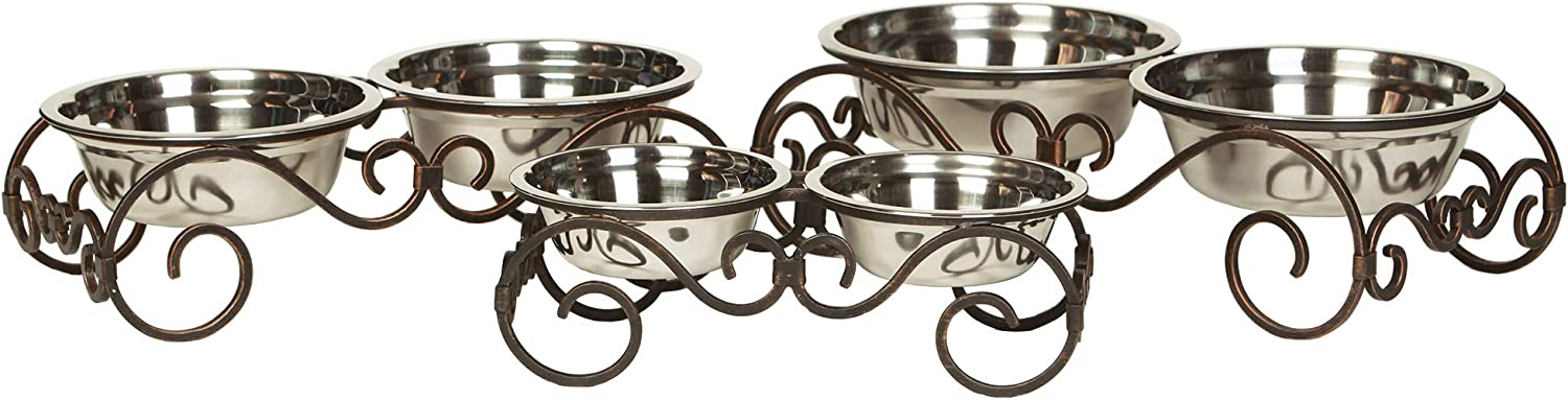 Unleashed Life Collection – Dog/Cat Food & Water Bowl