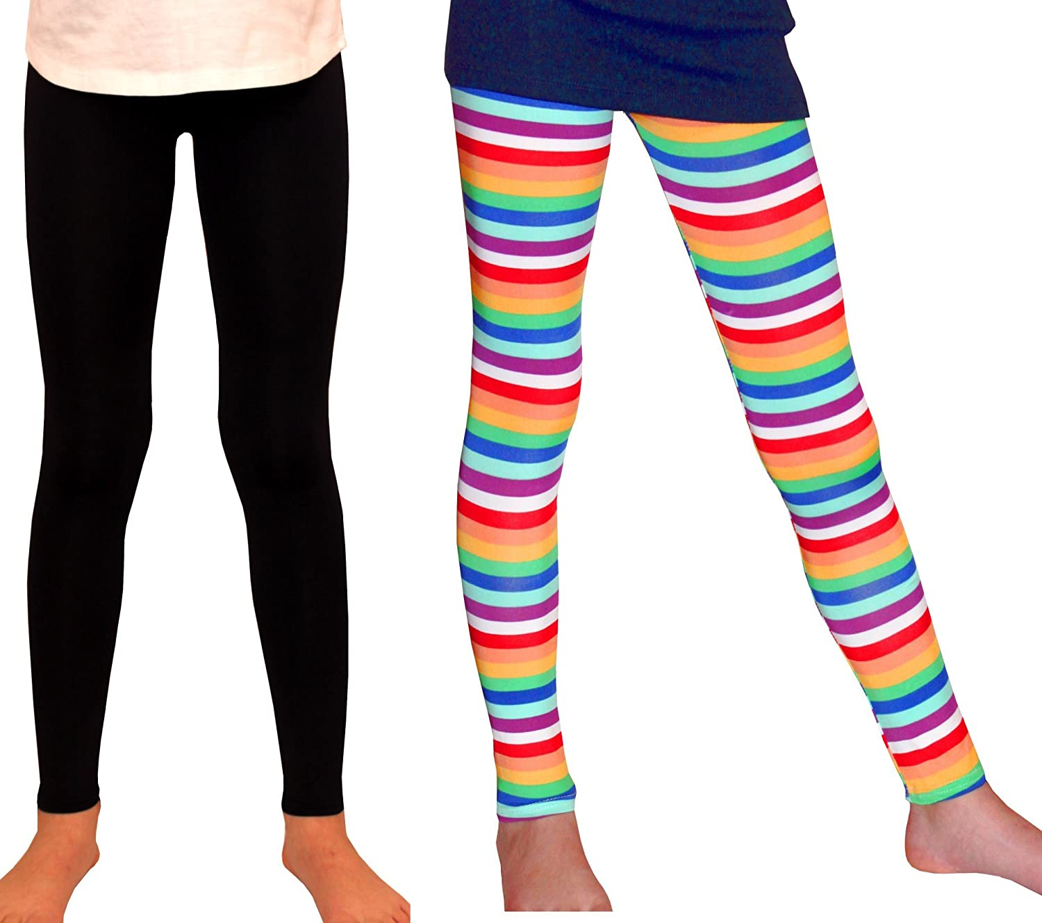 Syleia Girl Leggings Bright Stripes