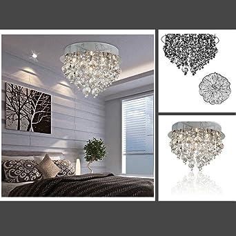 Fuloon Neu Modern Kristall Deckenleuchte Hangende Leuchte Licht Lampe Schlafzimmer Wohnzimmer Esszimmer Deckenleuchten Leuchten Pendelleuchte Lampe Kristall Deckenleuchte Kronleuchter Amazon De Beleuchtung