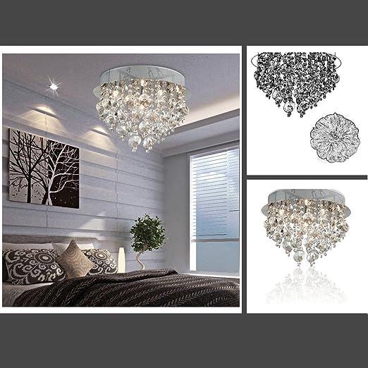 Fuloon Neu Modern Kristall Deckenleuchte Hängende Leuchte Licht Lampe Schlafzimmer Wohnzimmer Esszimmer Deckenleuchten Leuchten Pendelleuchte
