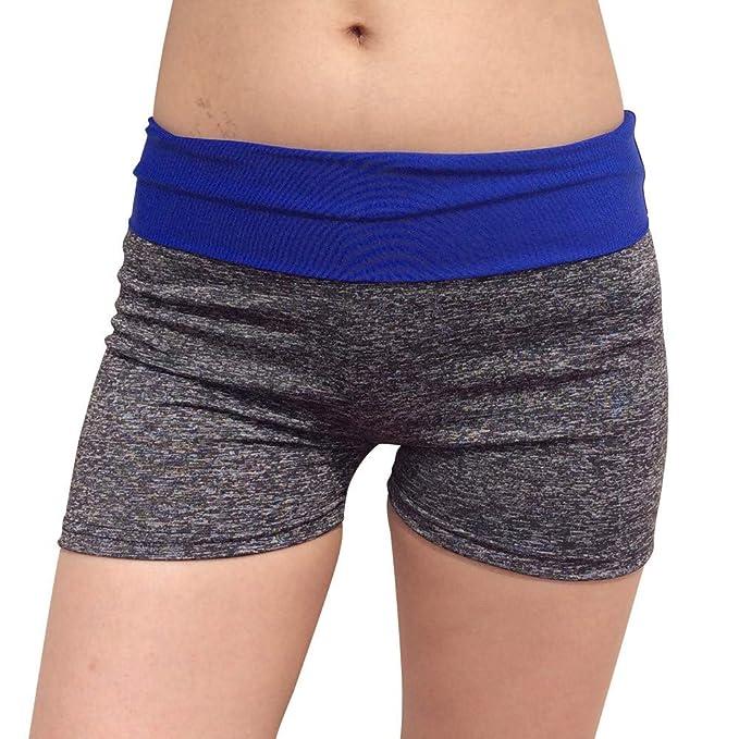 VPASS Mujer Pantalones Cortos Mallas Mujer Fitness Elásticos ...