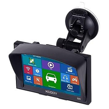 XGODY 520 portátil coche camión GPS navegación 5 pulgadas Sat Nav pantalla táctil integrado 8 GB