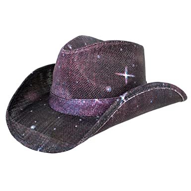 4cd5e1fdbeed7 Peter Grimm New Pocket Lined Space Drifter Cowboy Western Hat Paper Straw   Amazon.co.uk  Clothing