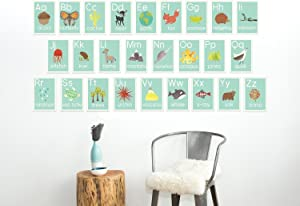 Children Inspire Design English Alphabet 08x10 Inch Print Wall Cards, Our World, Nature Themed, Kid's Wall Art, Nursery Decor, Kid's Room Decor, Gender Neutral Nursery Decor